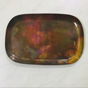 Copper Serving Platter-NWT-Antiqued / OVERSIZED